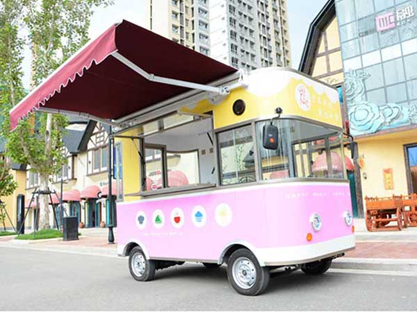 Pink Street Fast Food Vending Cart